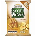 GRAINWAVES CHEDDAR     210GM